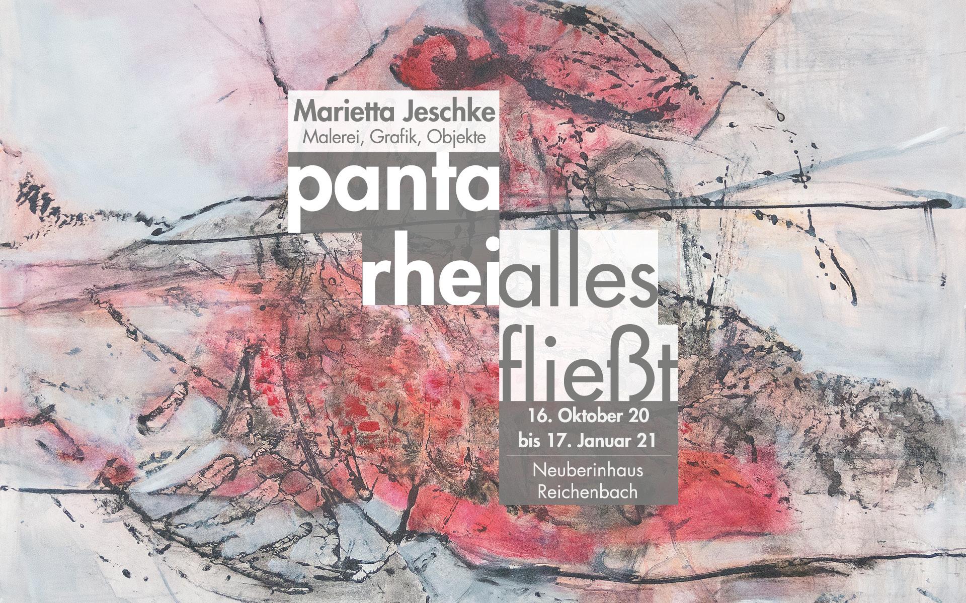 Titelbild der AUsstellung: panta rhei/alles fließt